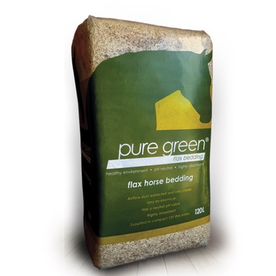 Pure Green Flax Horse Bedding