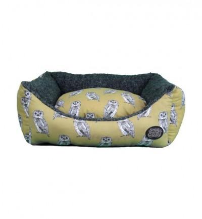 Snug & Cosy Owl Print Dog Bed