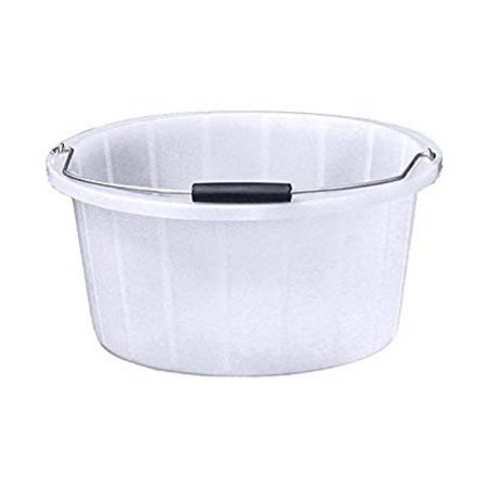 White Feed Bucket