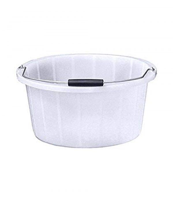 White Feed Bucket