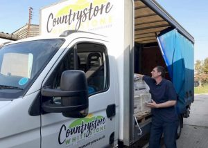 Countrystore Delivery Van being unloaded