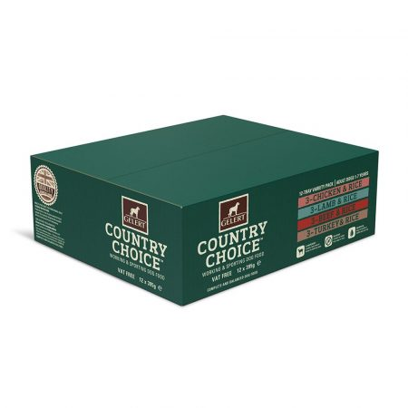 Gelert Country Choice Tray Variety Pack 12 x 395g