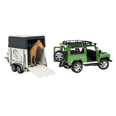 Bruder Land Rover Defender with Horse Trailer