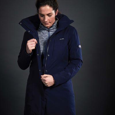 WeatherBeeta Kyla Waterproof Jacket on Model Navy